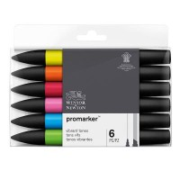 Winsor & Newton Promarker Packs of 6